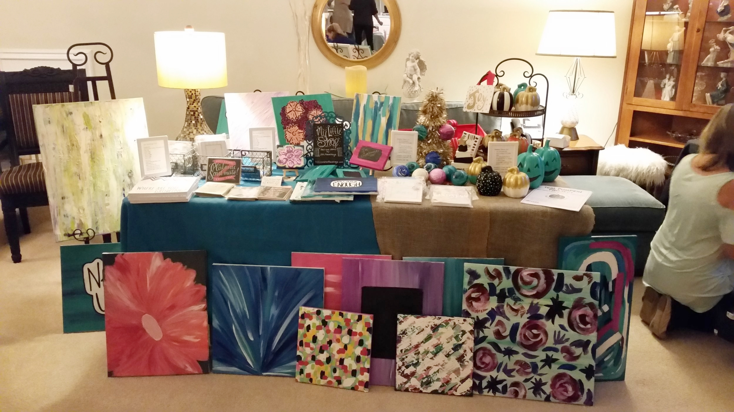 My table at the Pop Up Shop.