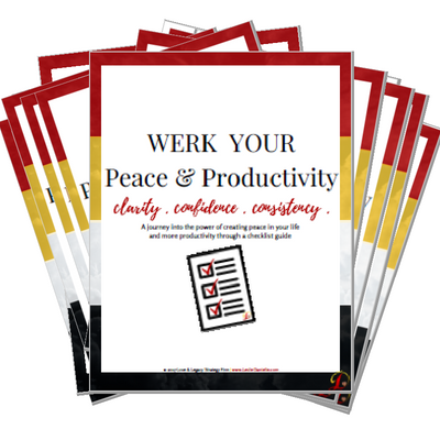 WERK Peace & Productivty  Give yourself the gift of peace and productivty
