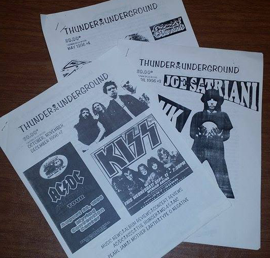 Old issues of Thunder Underground from 1996.