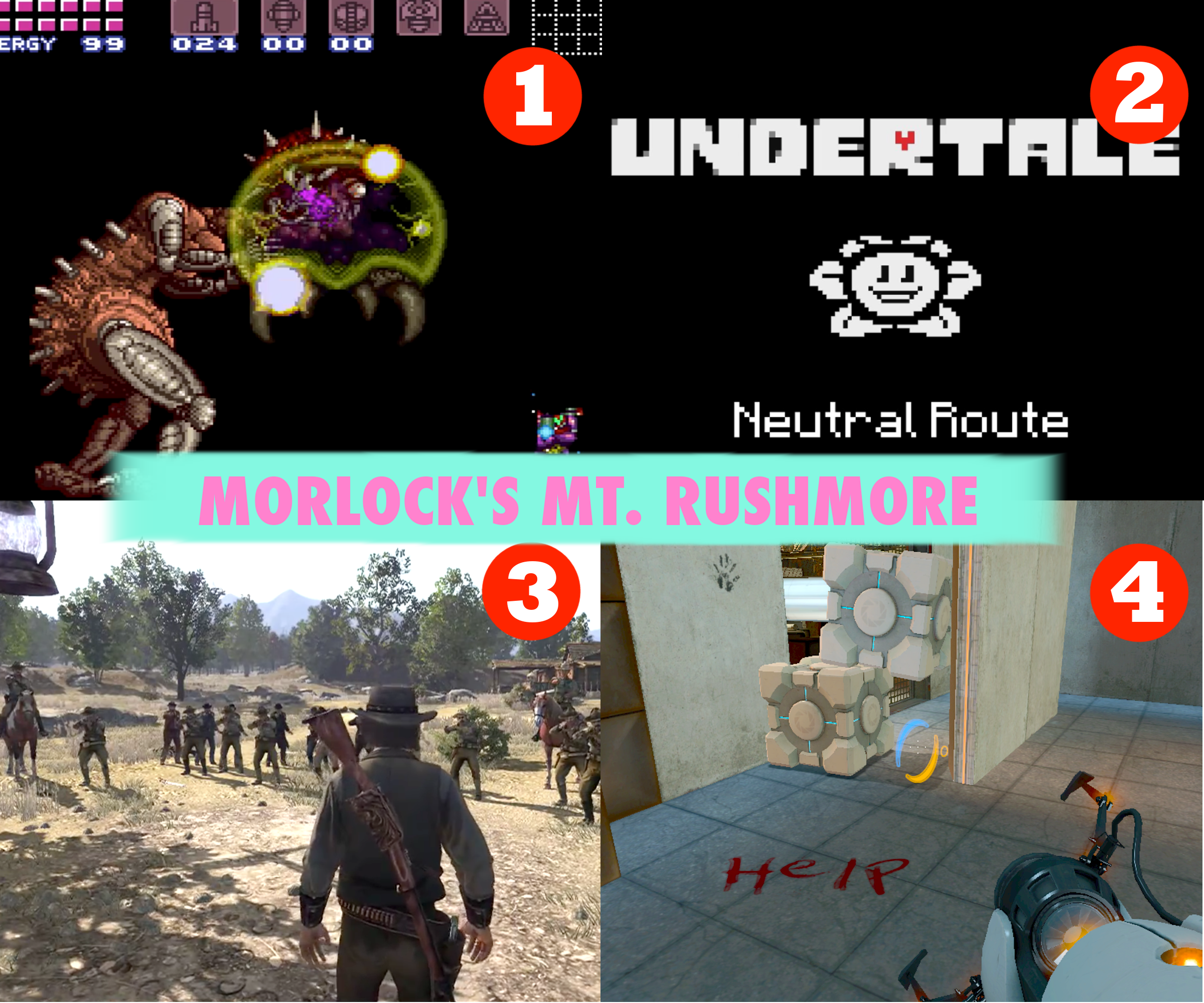 My four favorite moments in video games that I've played.