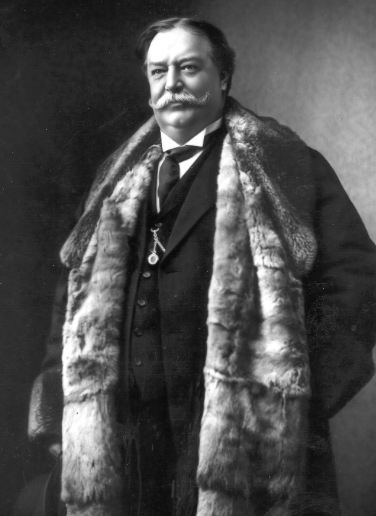 Taft liked him some fur. He was the last President to wear it on his face.