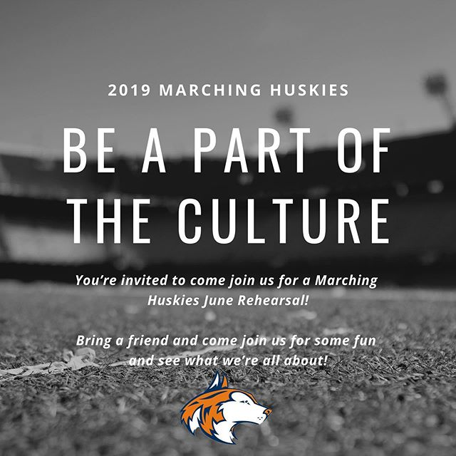 It's not too late to join us for the 2019 season. Come join us for a rehearsal and see what we're all about on Monday, June 10th, 12:30-3:30pm! Check out nnhsbands.org/marchinghuskies for more information. #letahuskieleadtheway