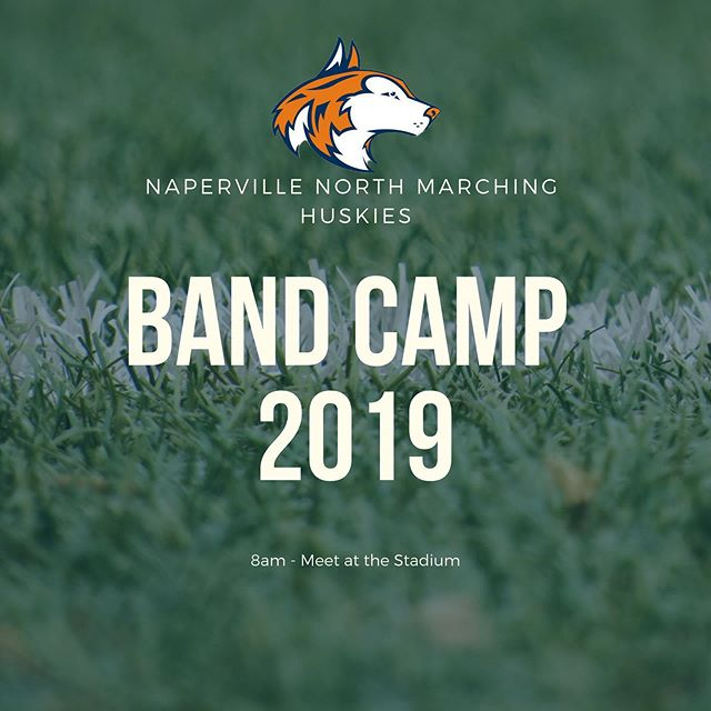 Band Camp 2019 is here! See you all bright and early tomorrow morning, ready to put in work! Please take a second to also review all of the camp details sent out last week in your email. 💪🎺🥁🏈 #letahuskieleadtheway @nnorthcolorguard