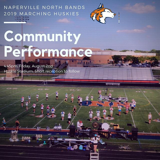 Please join us tomorrow evening as we showcase our students hard work for the first time with an end of band camp community performance! 4:45pm - Huskie Stadium; short reception to follow. #letahuskieleadtheway #rocketmanburningouthisfuseupherealone