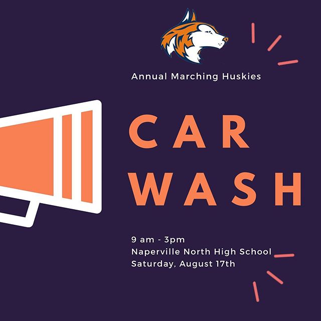 Stop by tomorrow (between 9am-3pm) and support the 2019 Marching Huskies and a great group of kids! We hope to see you there! 🚗 🧼 🧽 🎺 #letahuskieleadtheway