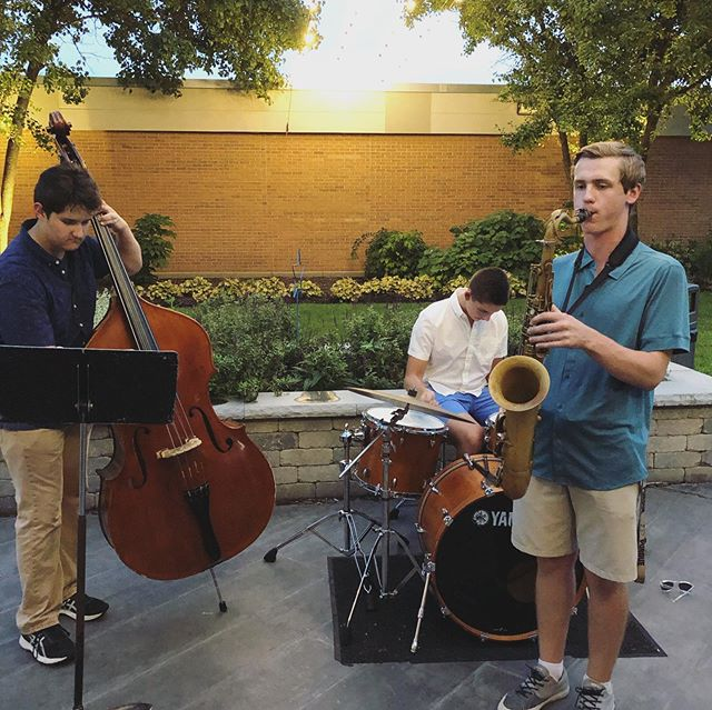 Jazz Combo was bringing some heat to the courtyard this evening at Parent Open House.