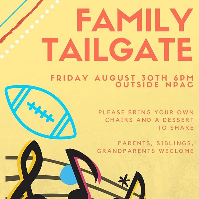 It's game week! All NNHS Bands families are invited to come hang at a pre-game tailgate this Friday - we hope to see many of you there as we prepare to cheer on our favorite student musicians and athletes! #letahuskieleadtheway