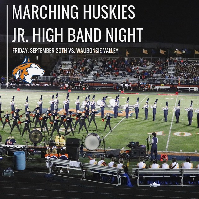 Calling all 7th & 8th grade future Huskies! One of our favorite nights of the year is quickly approaching! Please join us for our 2019 Marching Huskies Jr. High Band Night on Friday, September 20th and come join in on the fun! For additional details and sign-up info please speak with your Jr. High Director or see the link in our bio!