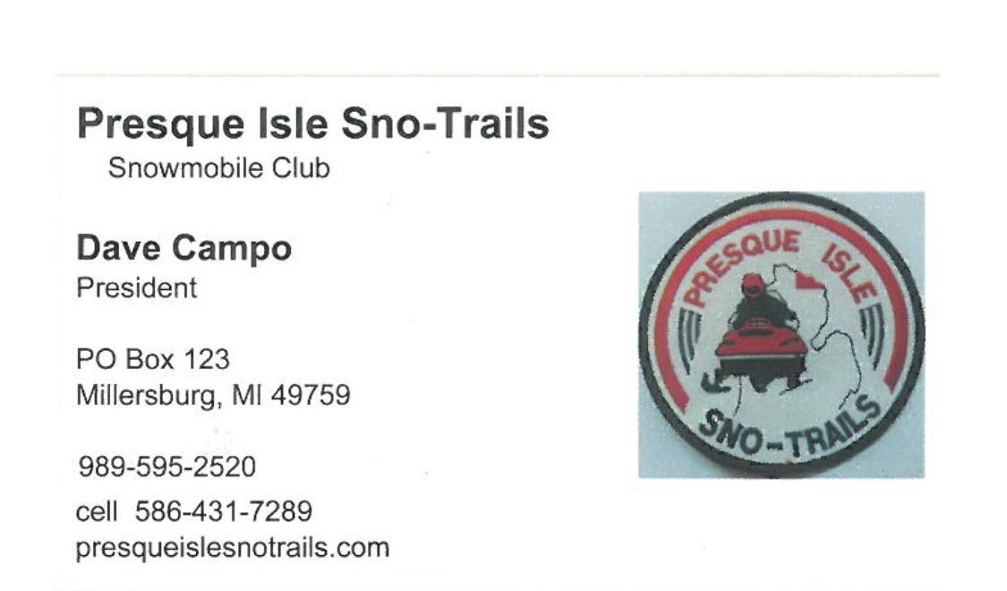 Presque Isle Sno-Trails - PO Box 123Millersburg, MI 49759(989) 595-2520