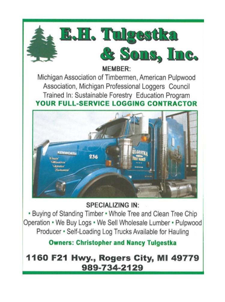 E. H. Tulgestka & Sons Inc. - 1160 F-21 Hwy SouthRogers City, MI 49779(989) 734-2129