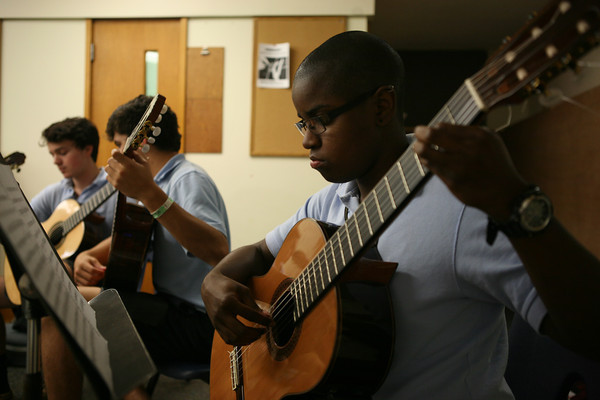 Ciyadh assisting with the Interlochen Arts Camp guitar ensemble in 2013. She worked at the camp as a stage services member and also played with the Interlochen Arts Camp Guitar Ensemble during the summer of 2013.
