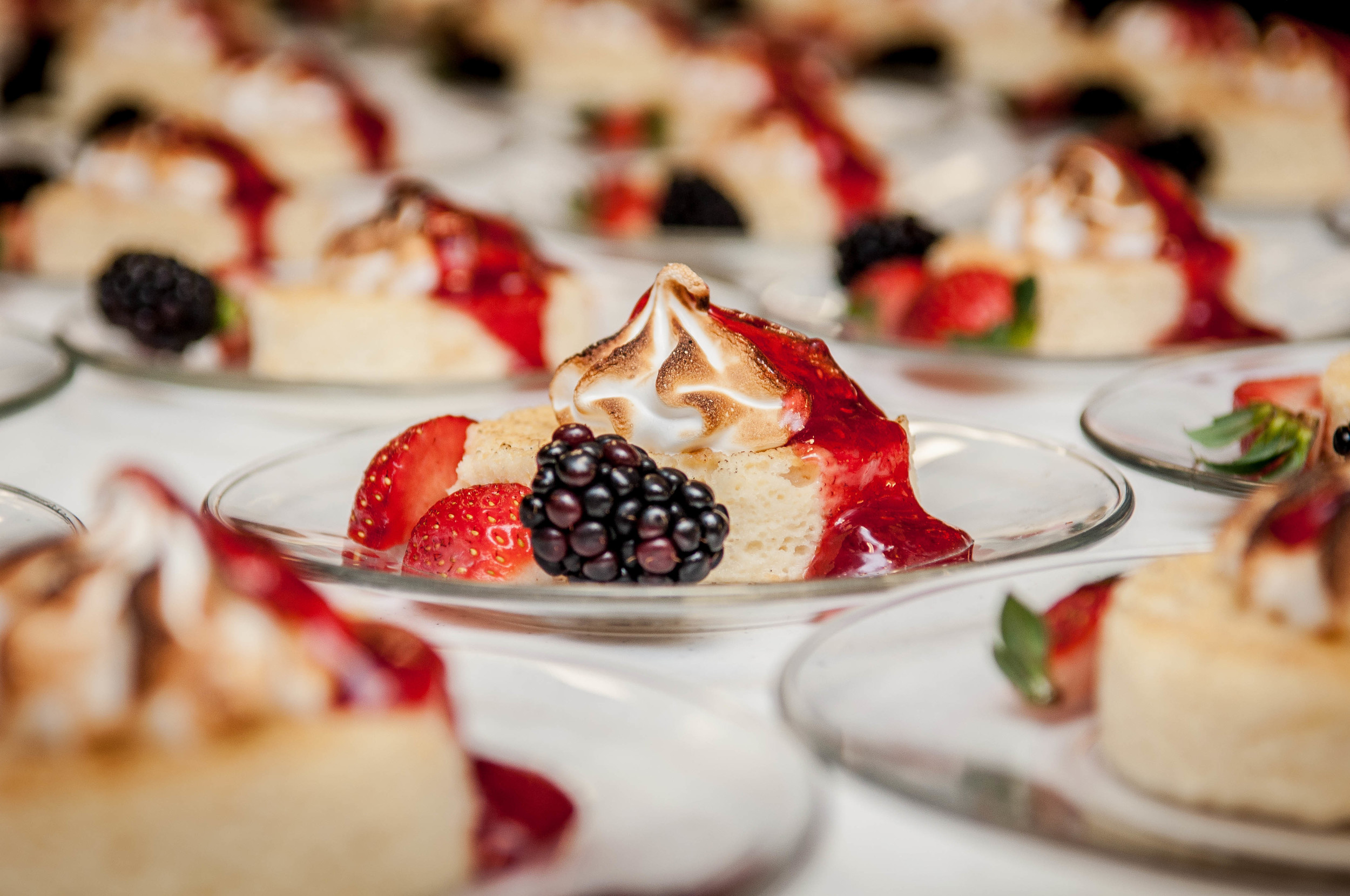 tres leches cake with fresh berries