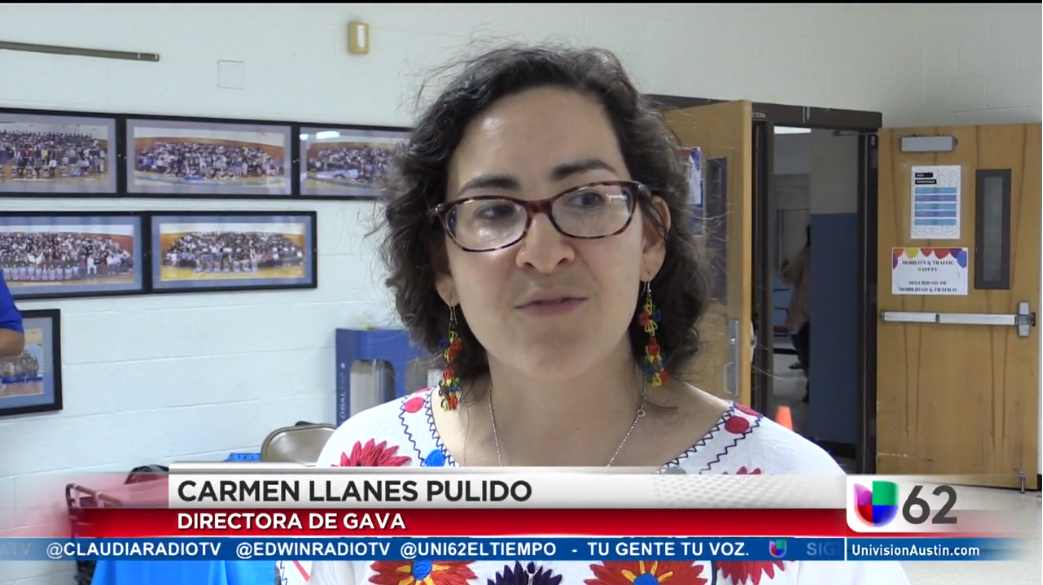 Executive Director Carmen Llanes Pulido speaking on Univision - May 4, 2018