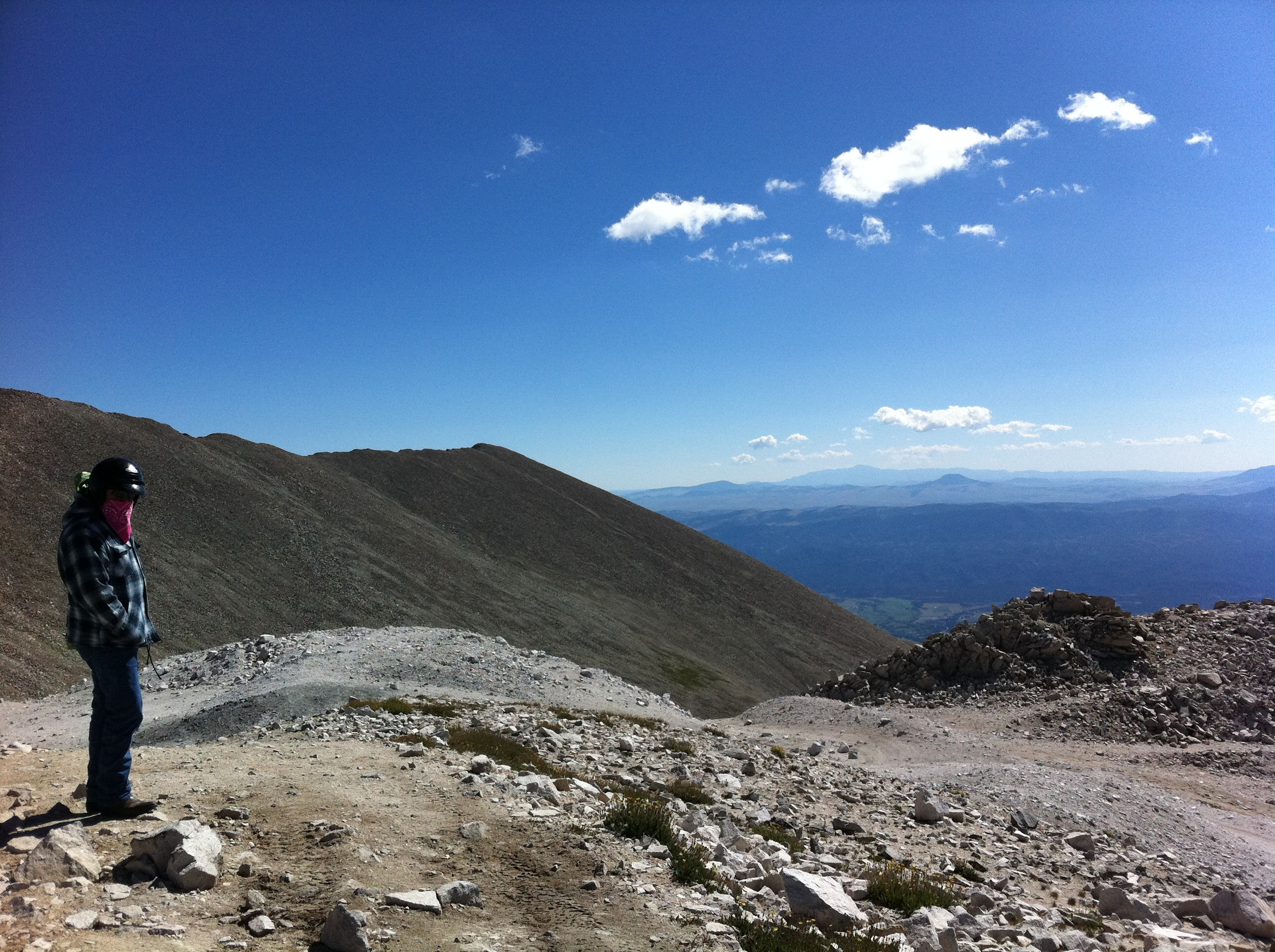 View near the summit of Mt Antero