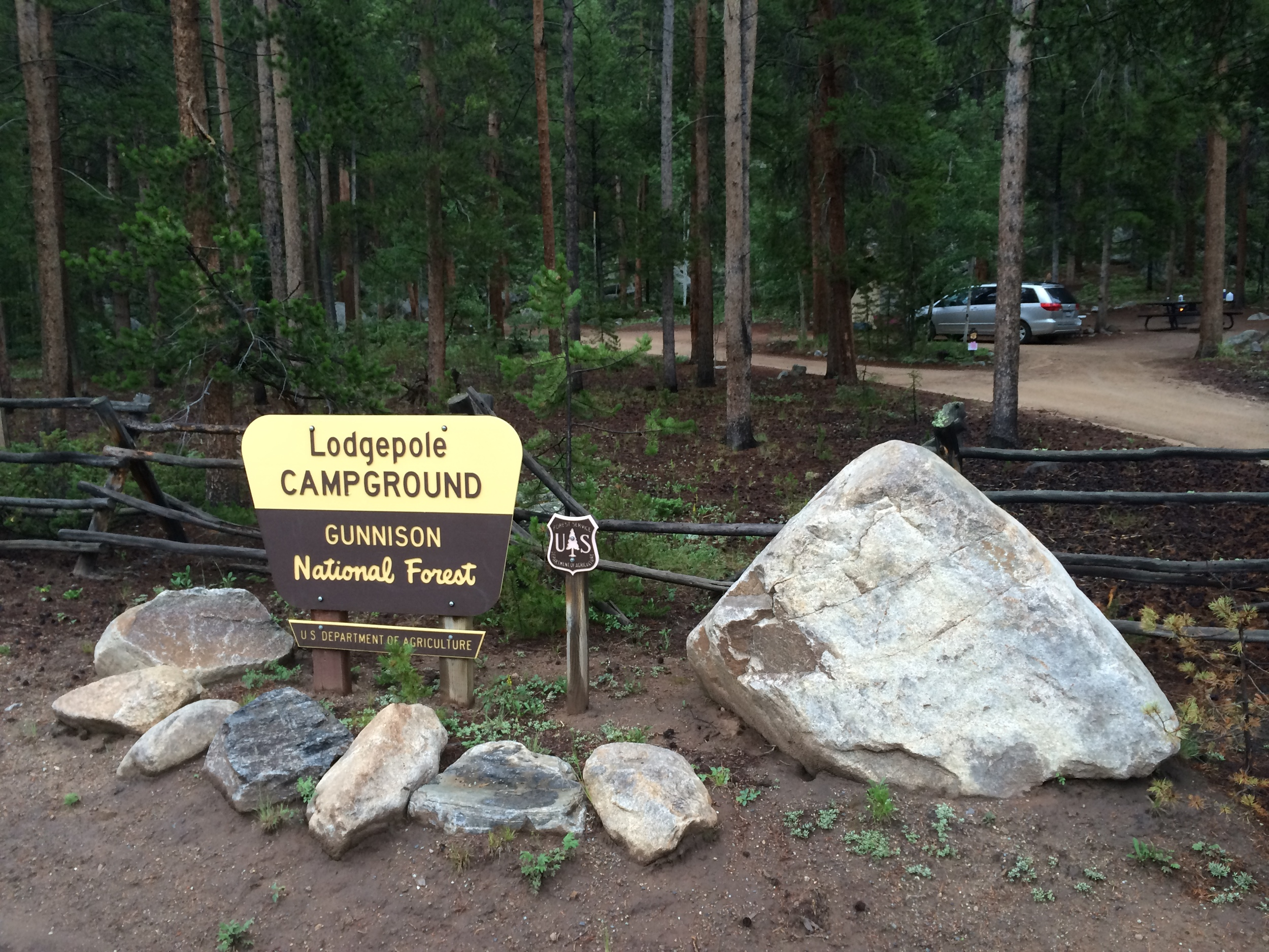 Lodgepole - Middle Entrance (Site #10 in background)