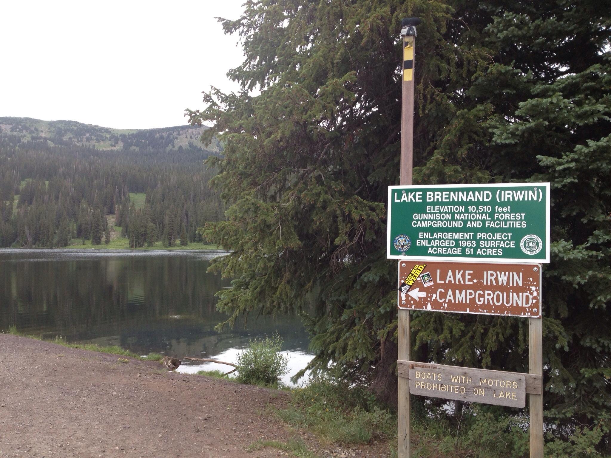 Lake irwin near crested butte colorado