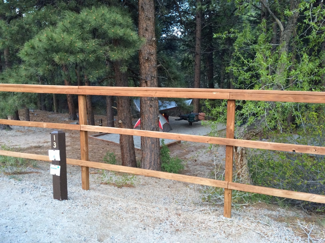 Campsite #13 - Chalk Lake campground