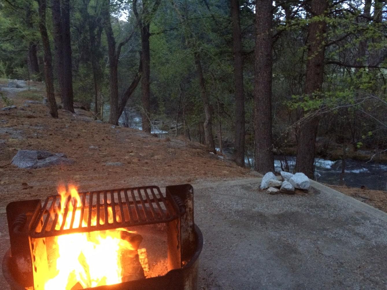 Chalk Creek passing our campsite