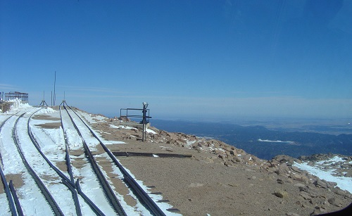 Pikes Peak train at the summit