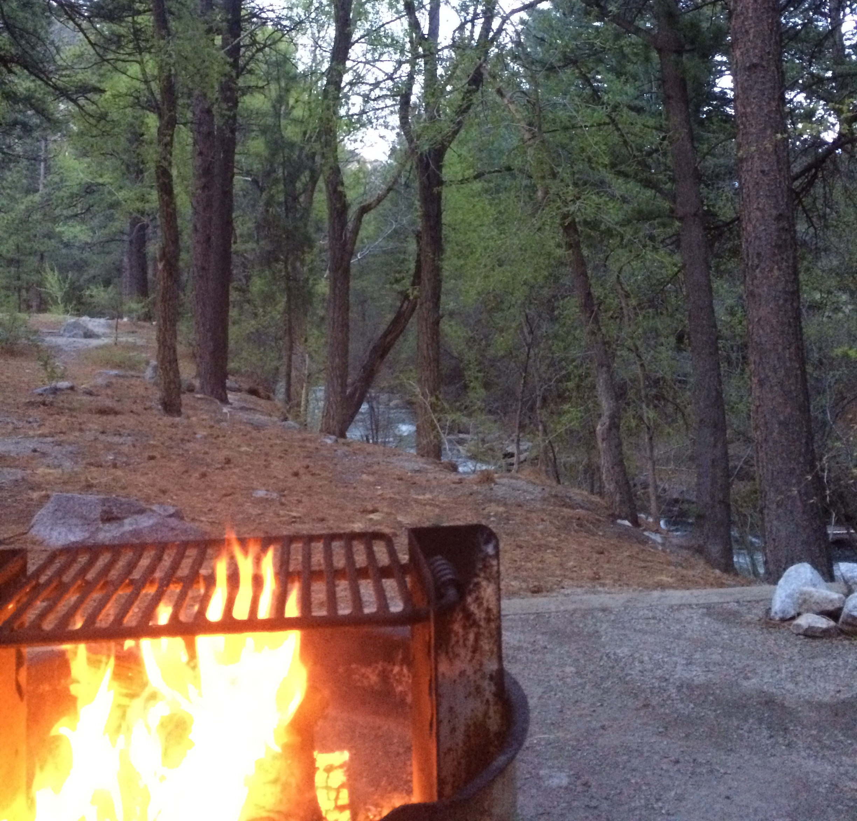 Chalk lake campground Site #13 - Campfire along Chalk creek