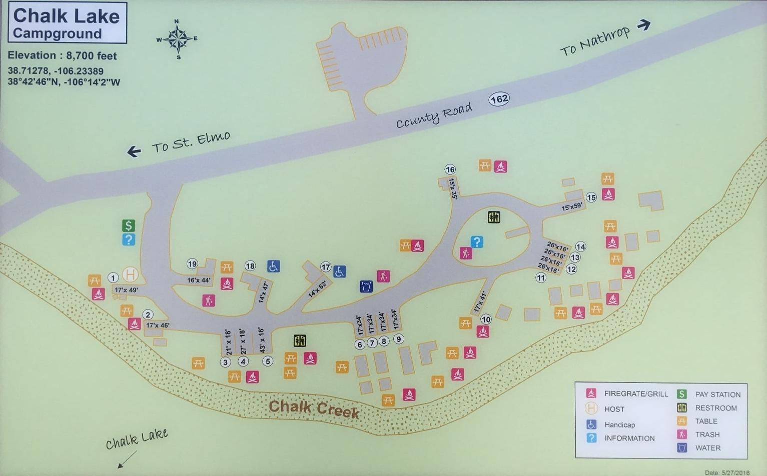 Chalk Lake Campground Map - Chaffee County colorado