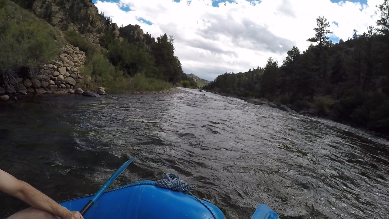 The Arkansas river is calm in many parts of Browns Canyon National Monument