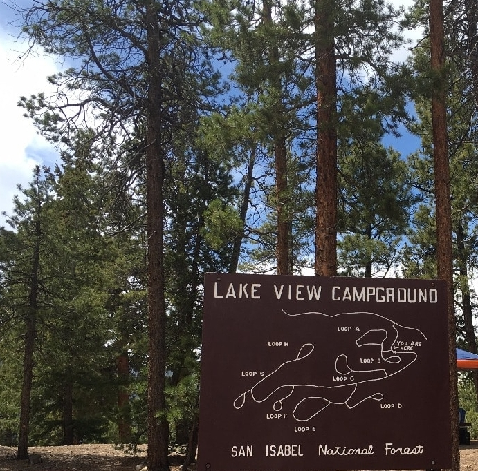 Map of Lakeview Campground Colorado