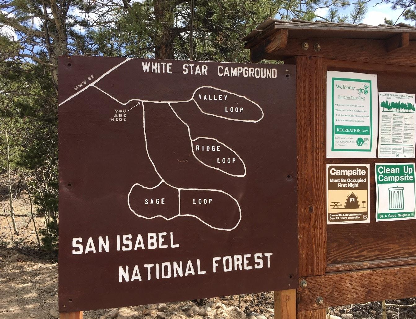 Whitestar campground map