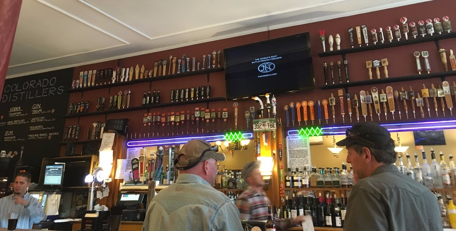 Check out the large collection of beer tap handles at Currents Steakhouse