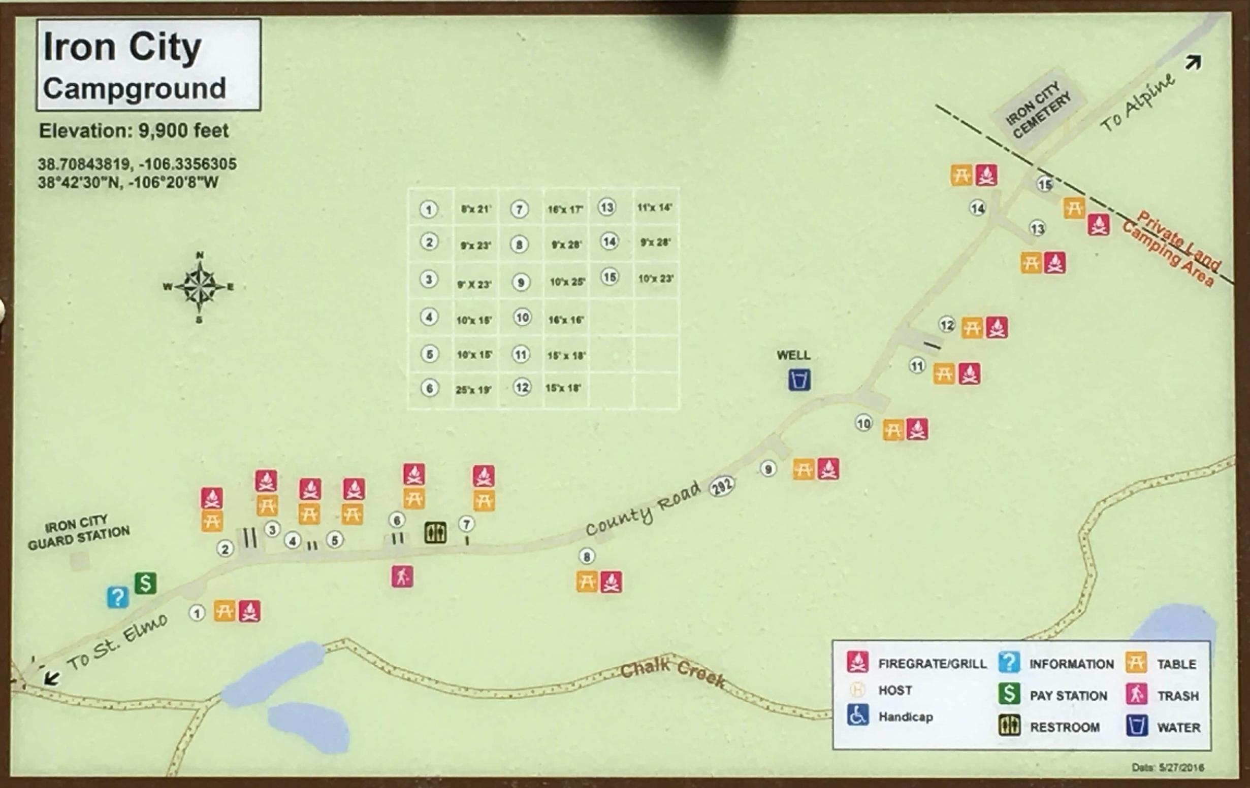 Iron City Campground Map