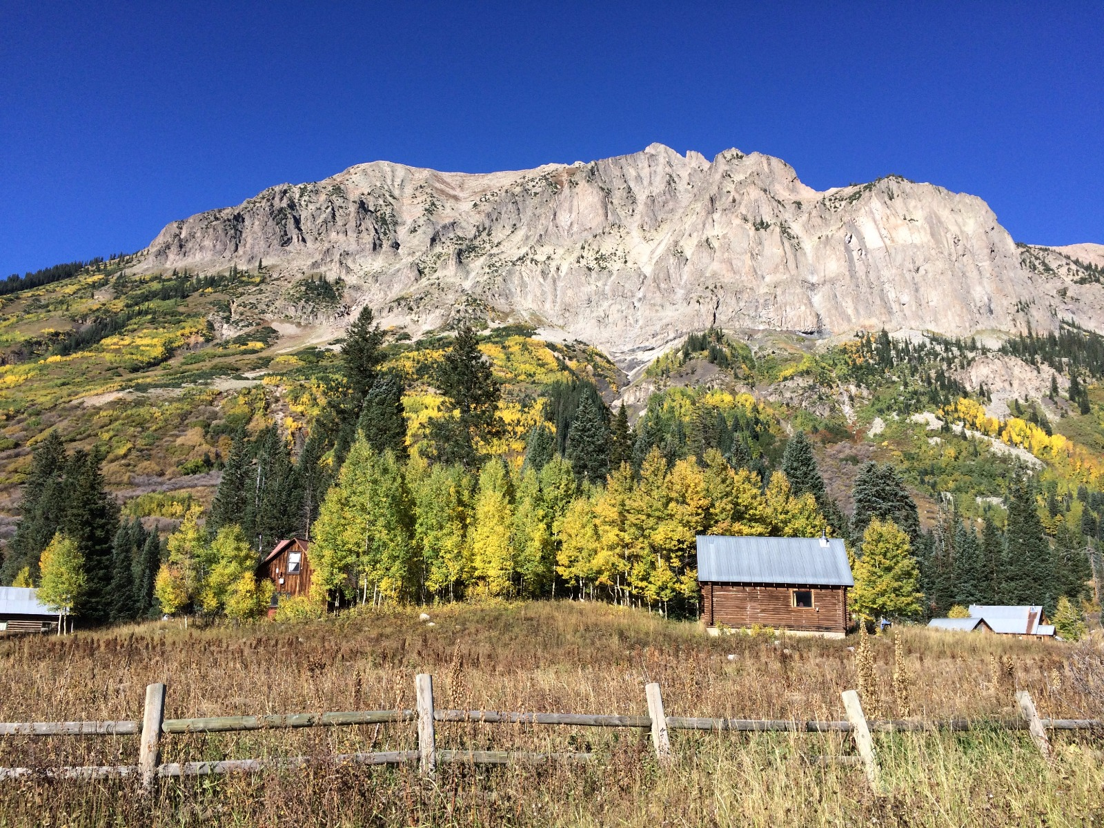 Gothic Mountain in fall. This pic should be on a jigsaw puzzle