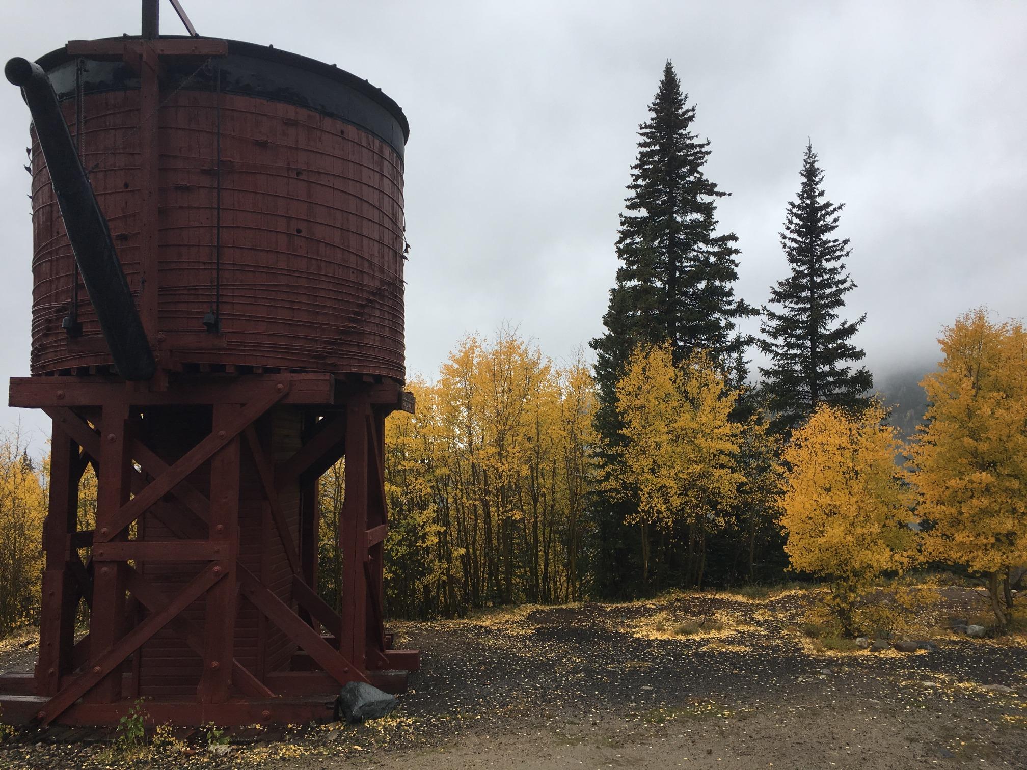Leadville train's Water station in fall