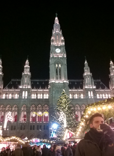 Vienna town hall and the Christmas market. This was after a day of presenting to and training great people. I felt very privileged to get to do this in such a nice place.