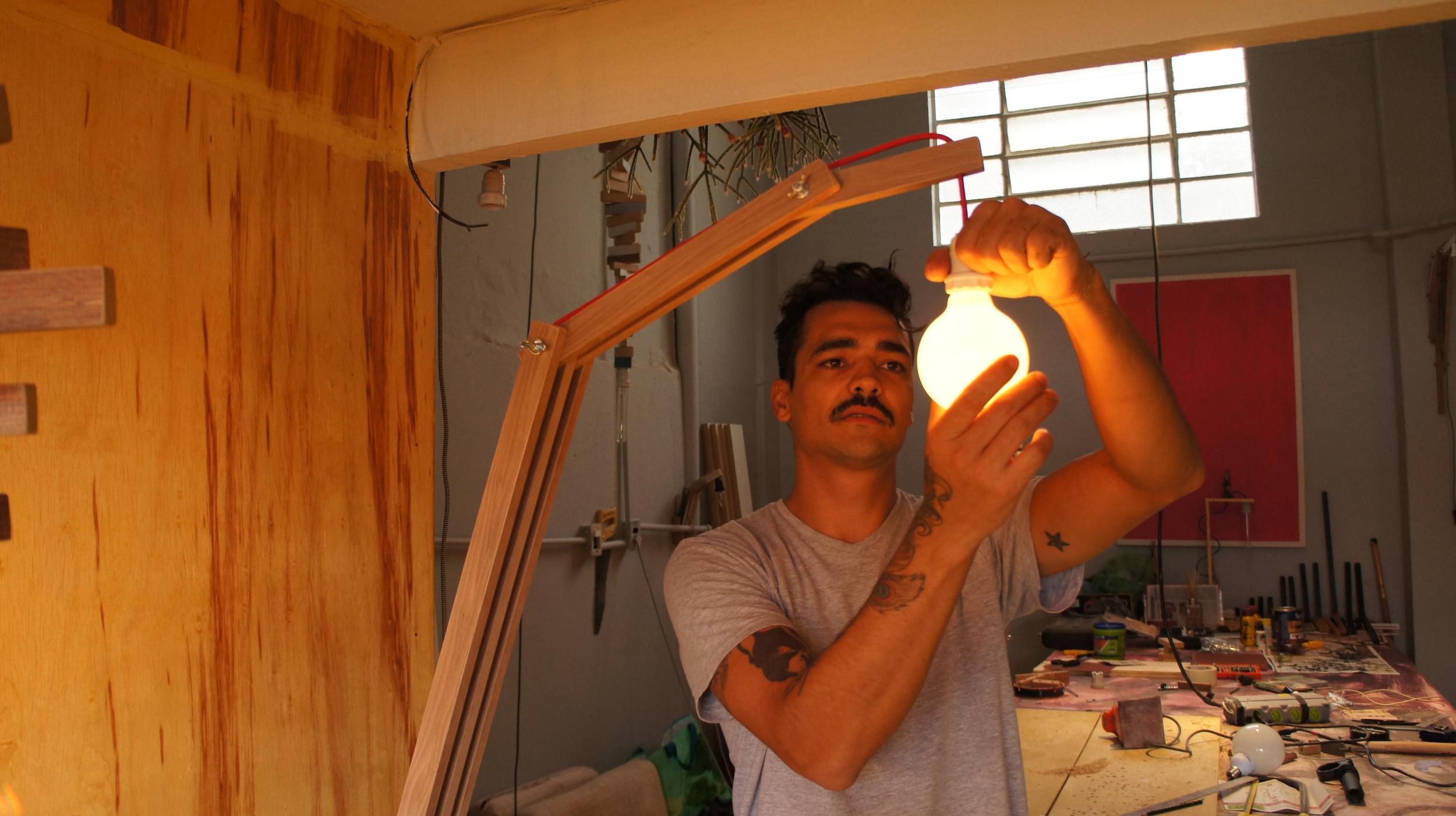 Cristhian Grego em seu Atelier