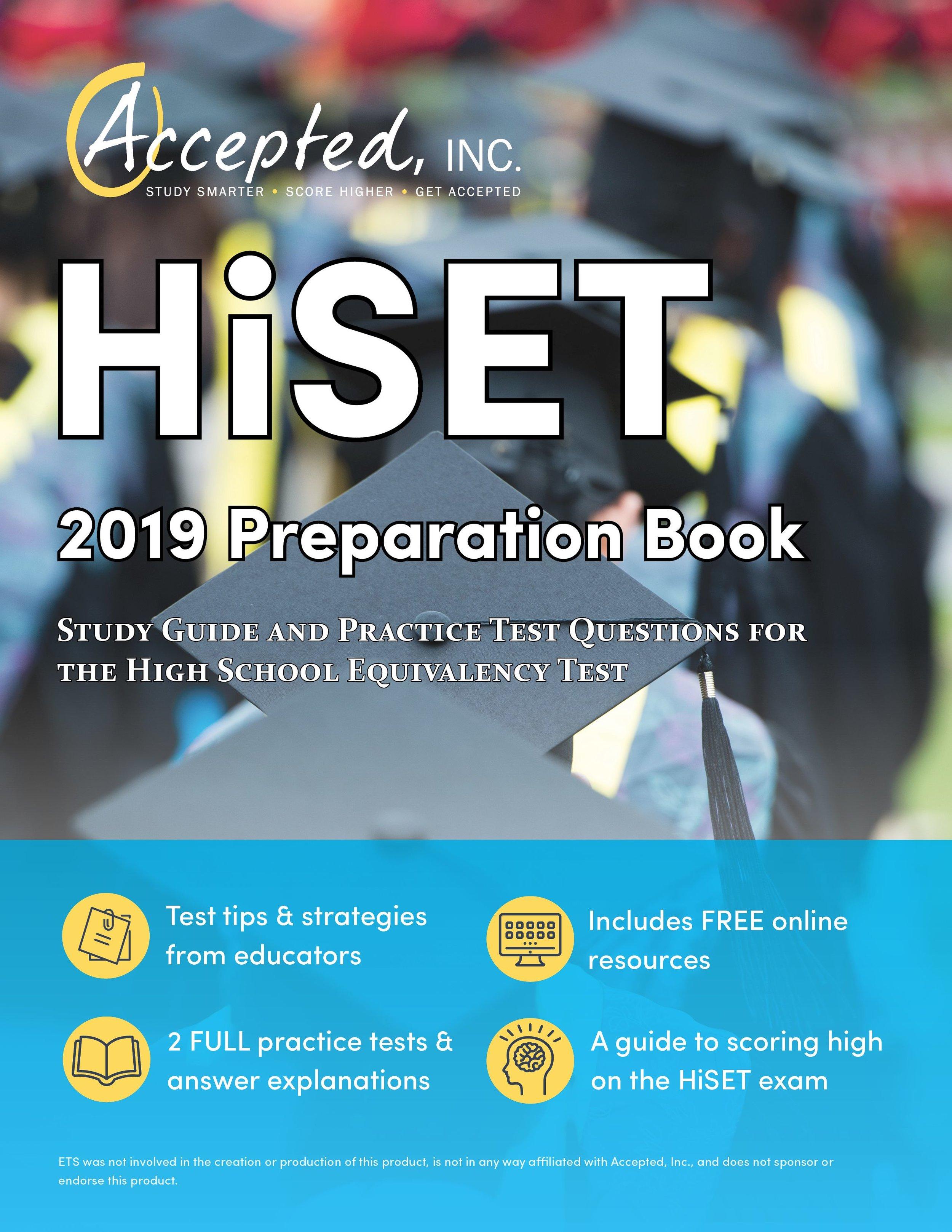 HiSET 2019 Preparation Book Study Guide