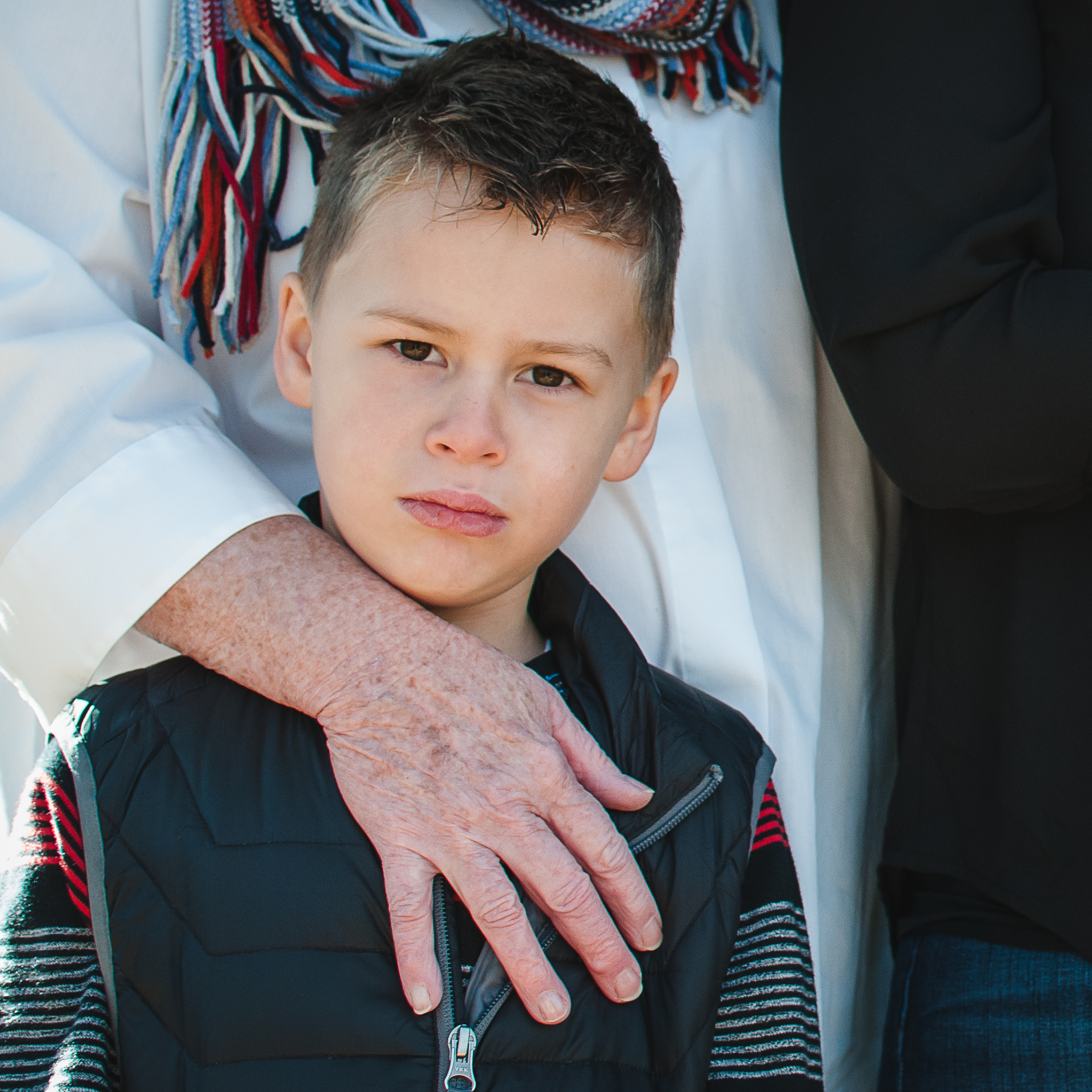 Lucas with his Nana. Family Session. December 2014. Severn, MD.