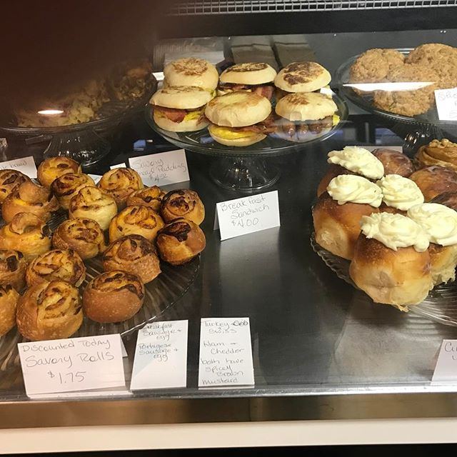 Monday mornings fresh baked goodies. #quickbreakfast #yummyfood #freshbaked #freshbakery #local #localfood #viptreatsandsweets