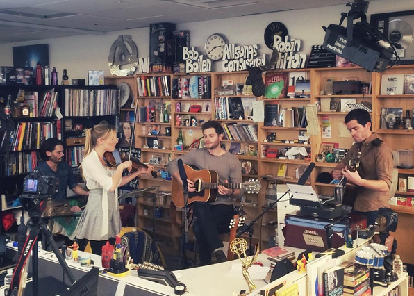 River Whyless performing for NPR's Tiny Desk Concert series.
