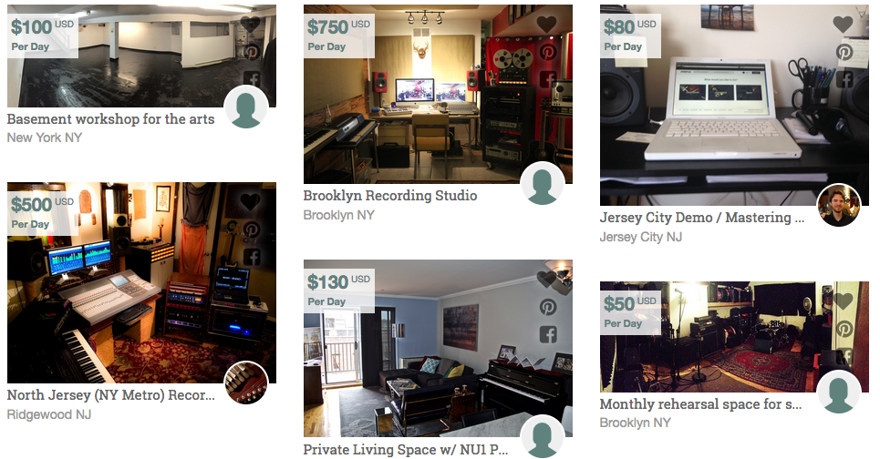 You can list your rehearsal space too.