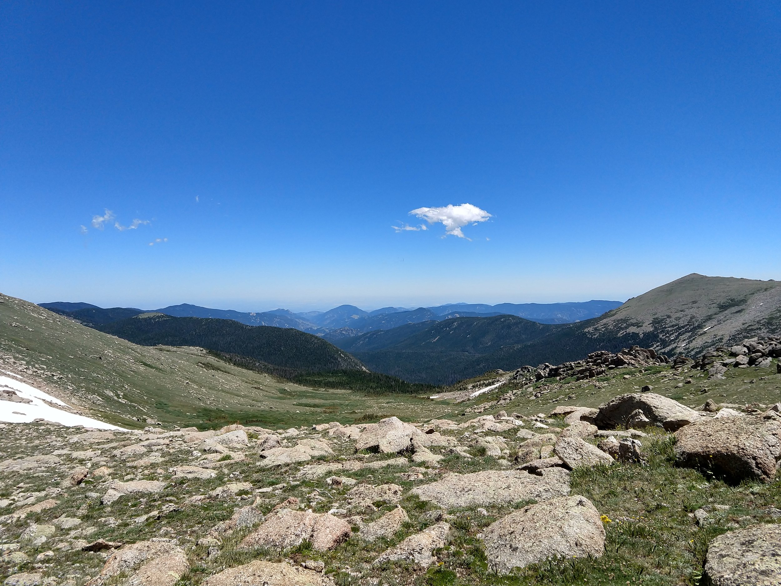 The view from Stormy Peaks Saddle.