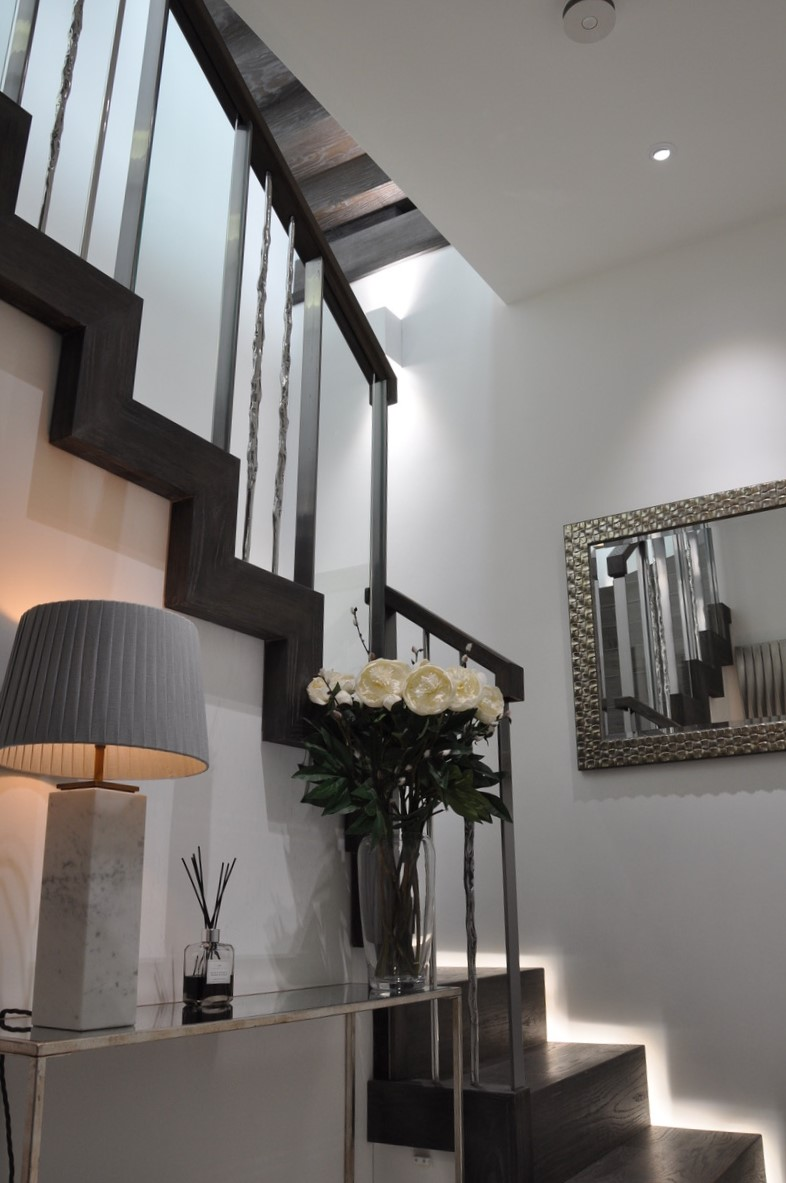 All lighting including the lamps are controlled by the Lutron lighting system