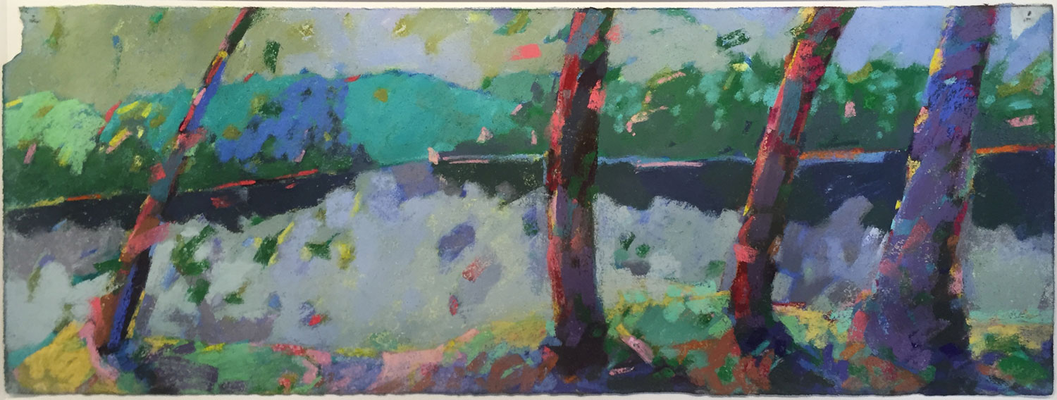 Henry Isaacs  River Landscape  Pastel on Paper  20 x 39  $ 1,600 • SOLD