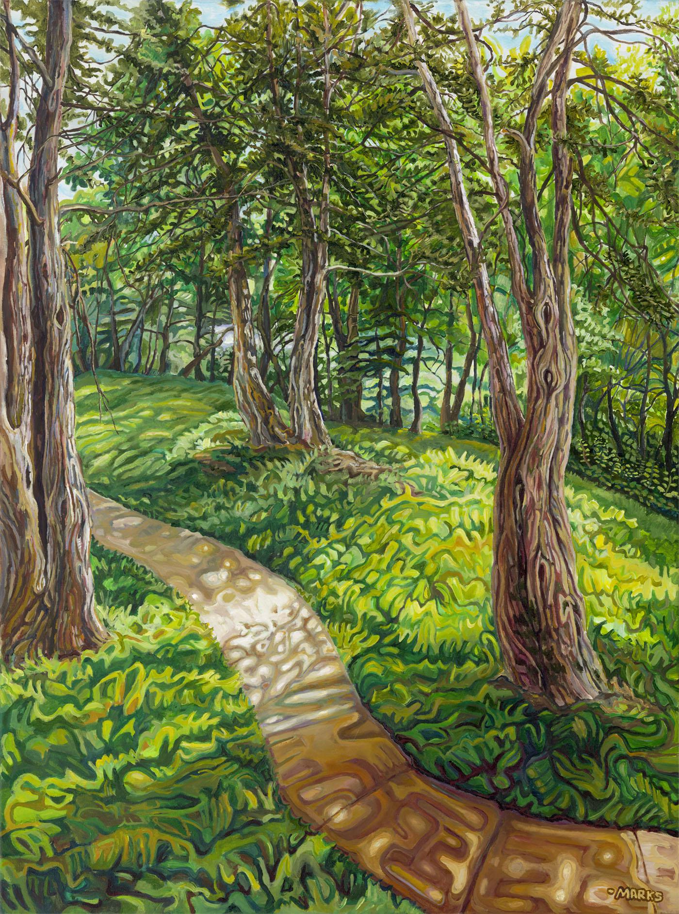 Backbone Cedars - 30 x 40 - Acrylic on Canvas - $3,000