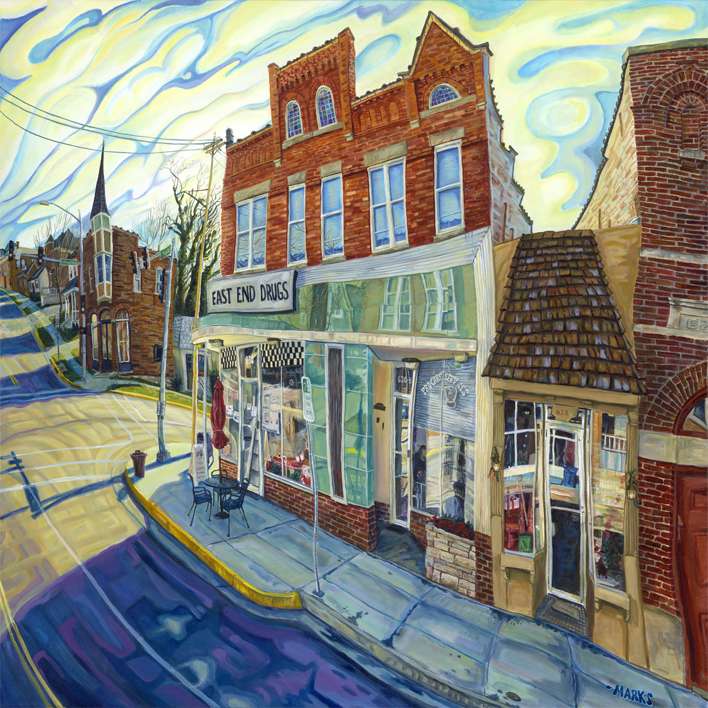 East End Drugs - 40 x 30 - Acrylic on Canvas $5,000    Sold