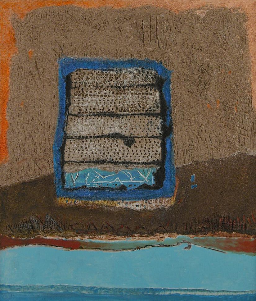Enrico Donati  Window on Cerveteri  Mixed media on canvas 1984