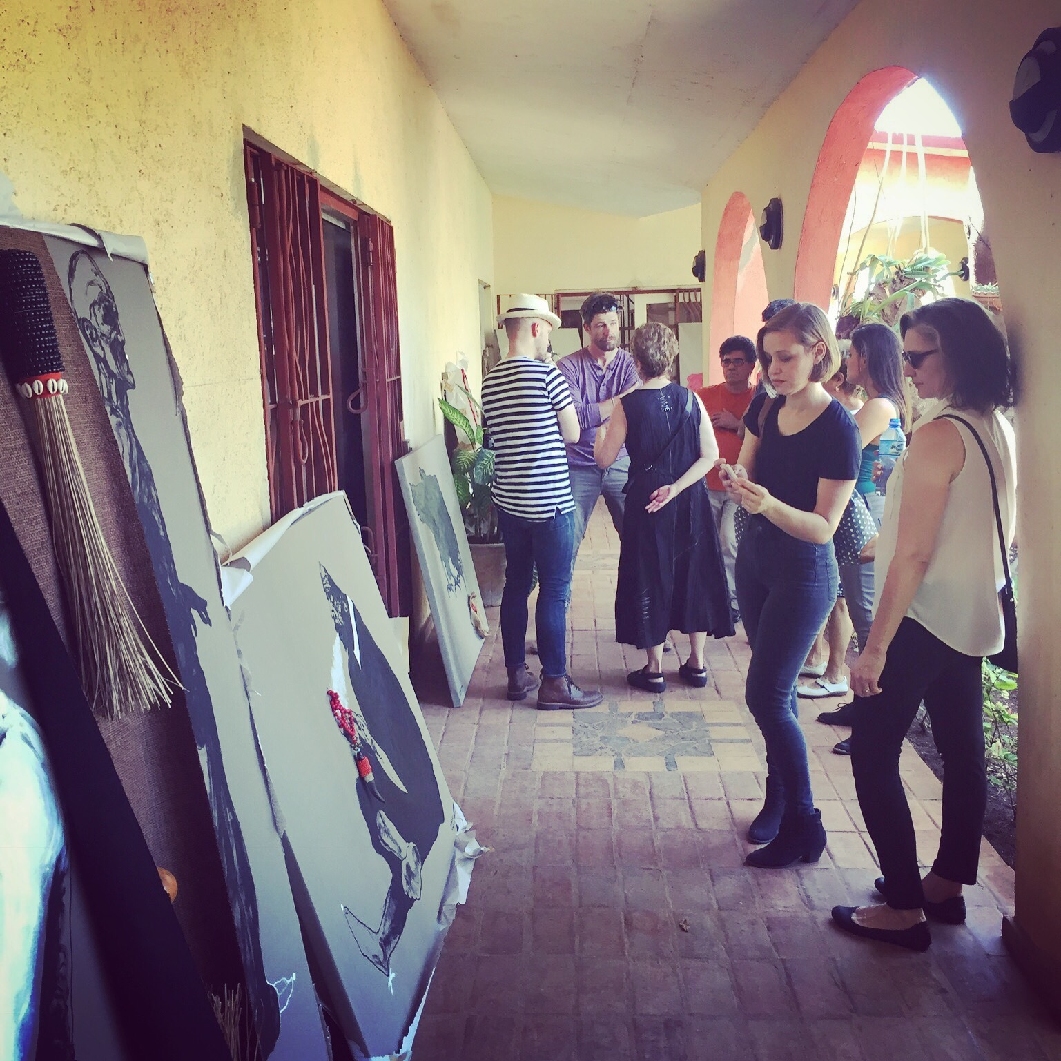 At the studio and home of renowned Havana painter Santiago Olazábal