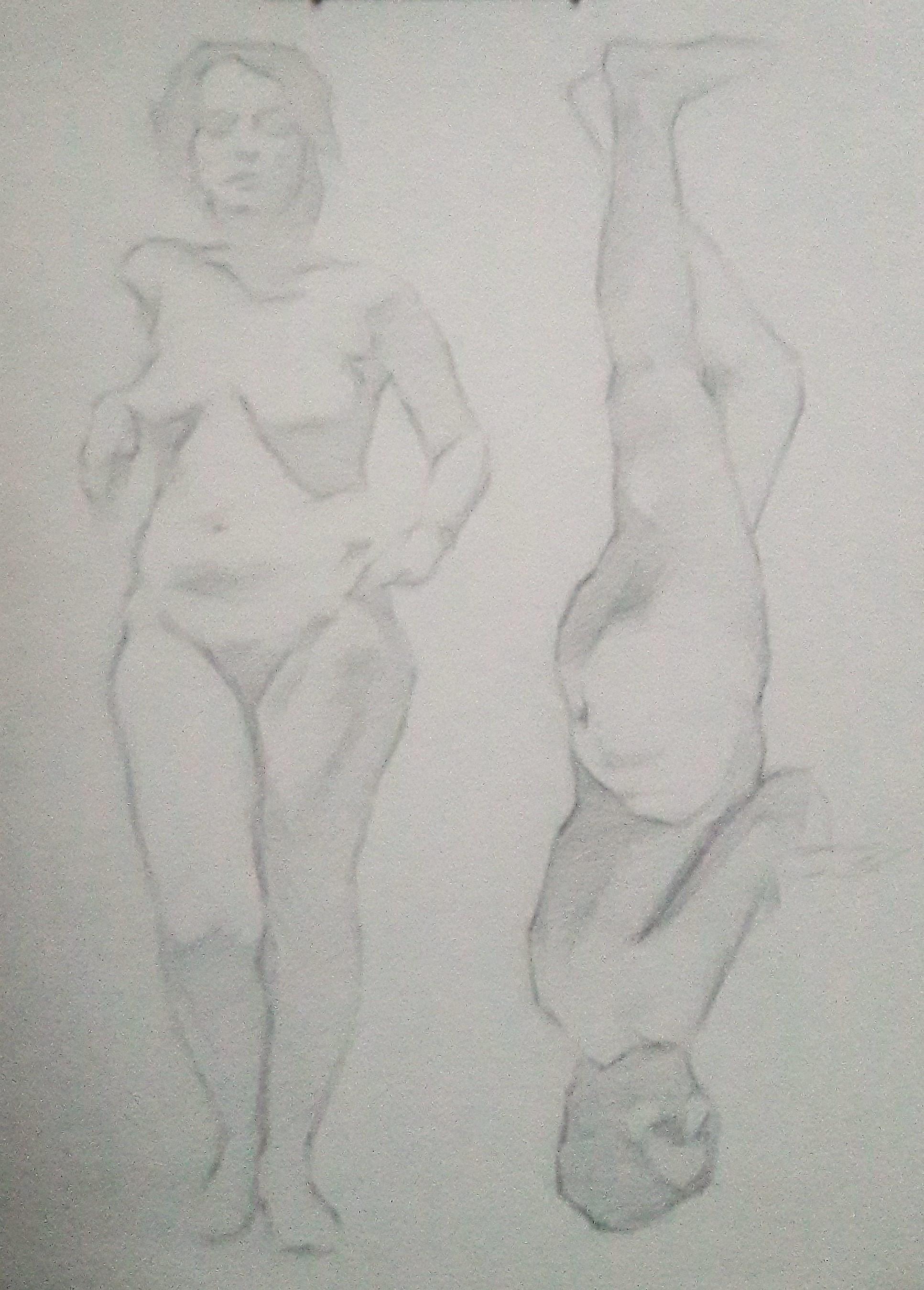 "Pencil Study 2, Pencil on paper,7 x 10"",$80"