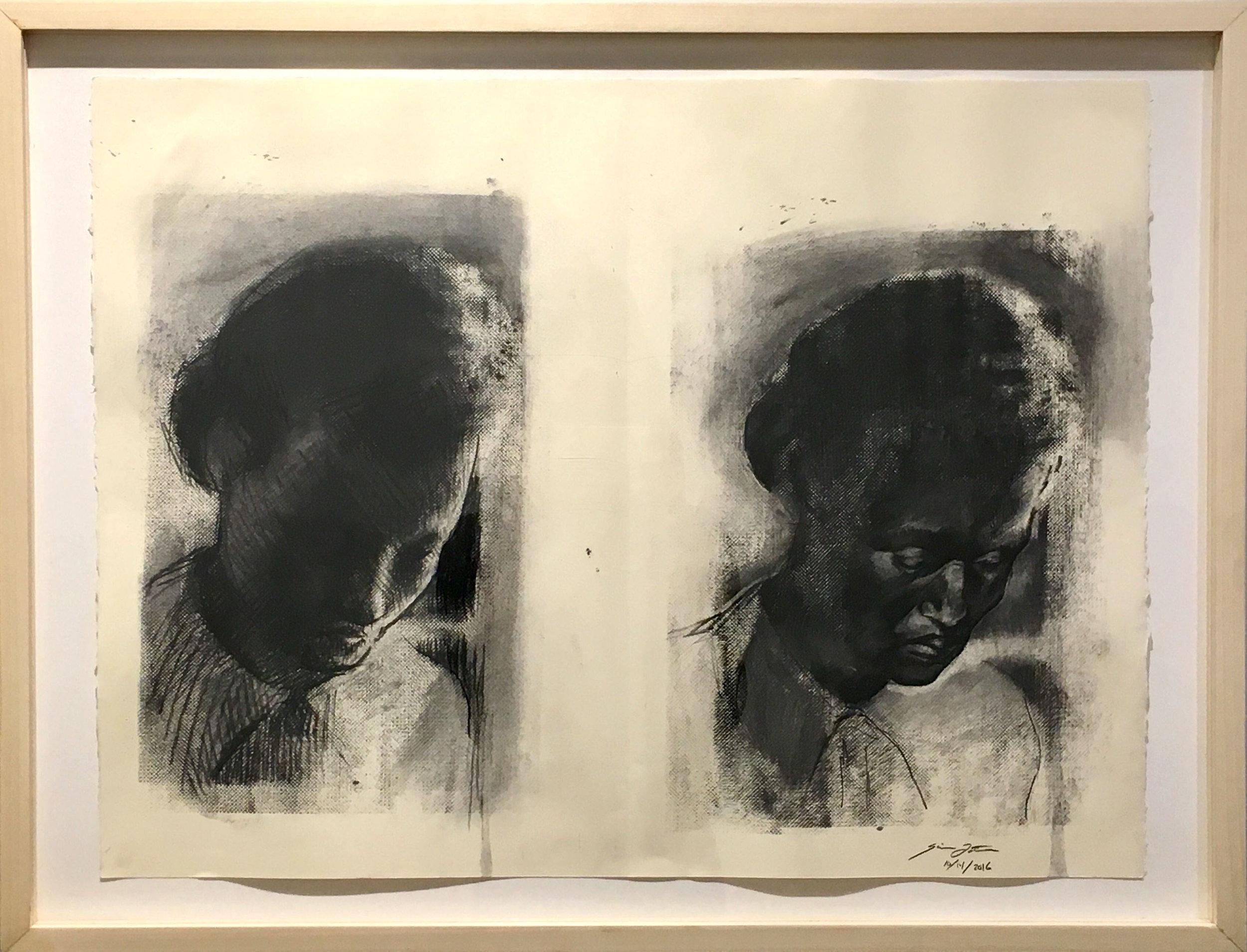 Simon Tatum, Miss, ink on acetate, 11 x 17, $925
