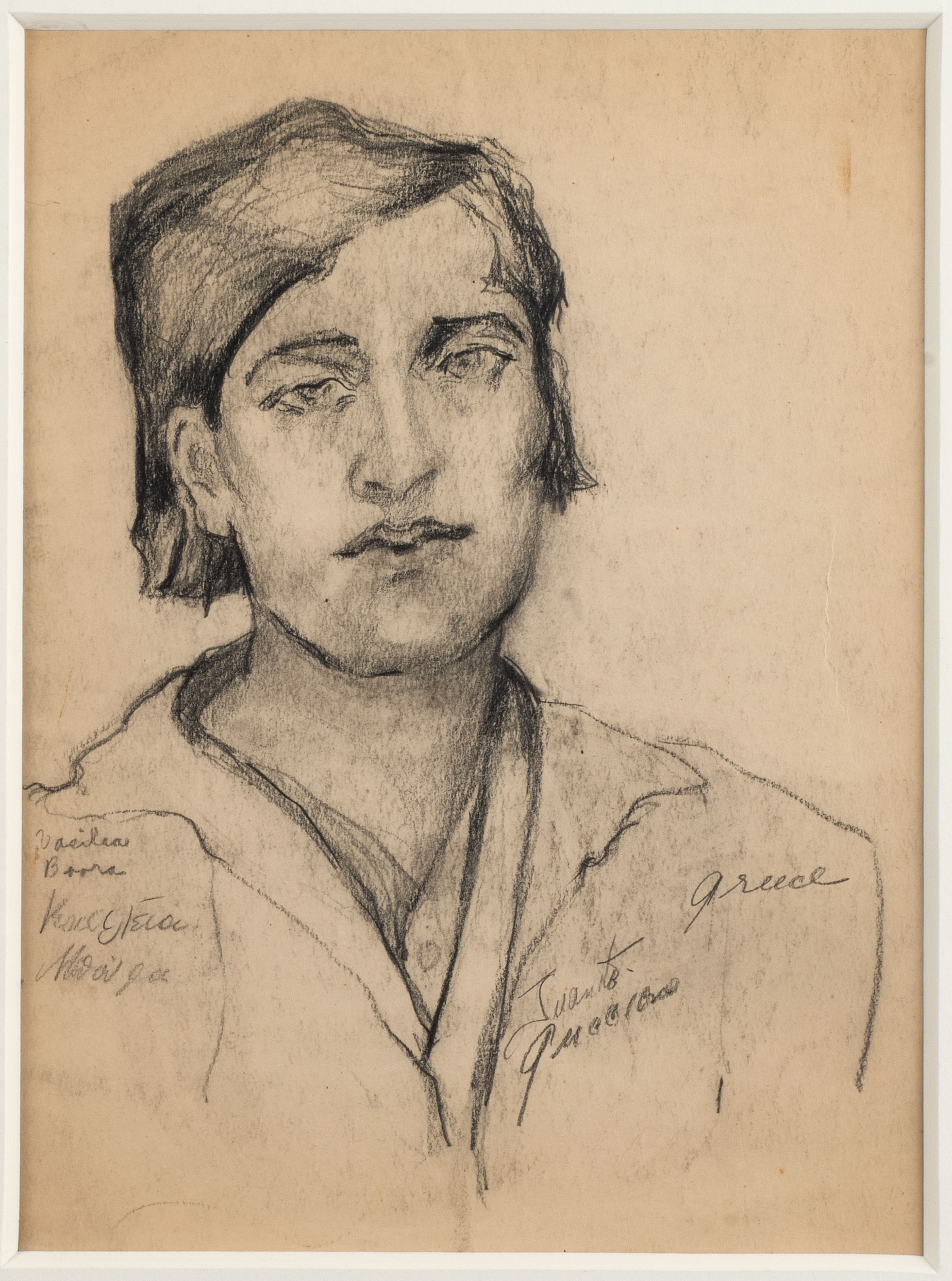 Head of a Woman (Greece, Vasilia Boorea),n.d.,Pencil on paper, 11 1/2 x 8 1/2,$ 3,800 (SOLD)