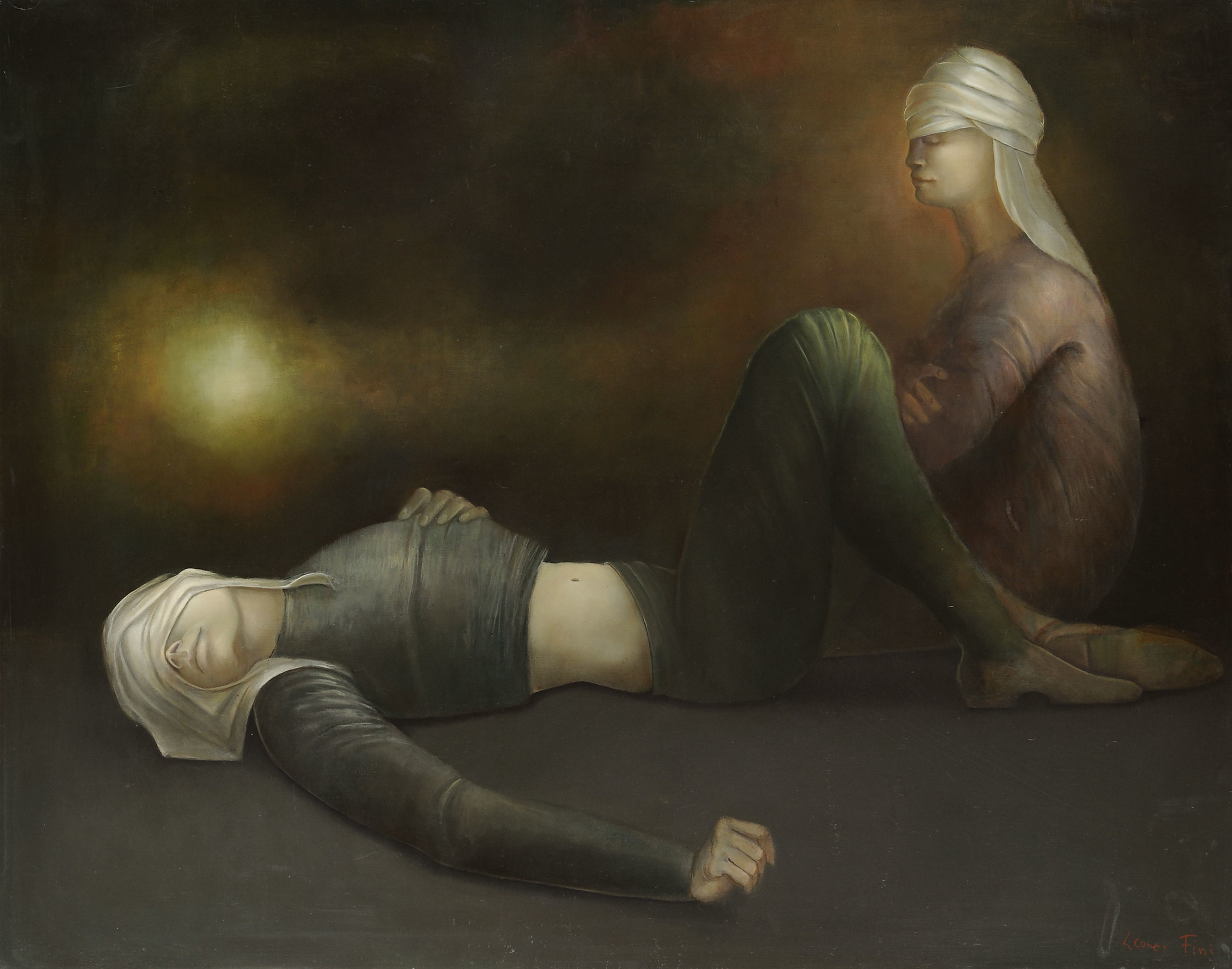 Voyageurs en repos (Travelers at Rest) , 1978, Oil on canvas, 26 1/2 x 33 1/2, $375,000